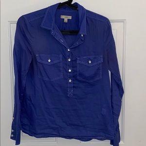 J. Crew cotton jean shirt